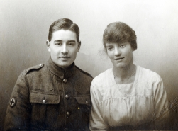 F032 Royal Army Medical Corps and lady