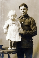 F036 Unnamed soldier and child