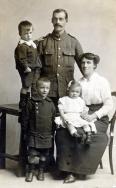 F037 Unnamed soldier and family, Saffron Walden studio