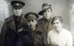 F137 Family group, Lancashire Hussars, Rotal Army Medical Corps, AIF and lady.
