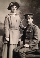 F173 Harry Richard Lee, 2nd Batalion, Worcestershire Regiment, and Nellie. Courtesy of Paul Hughes.