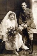 F124 RAF wedding couple, Norfolk.