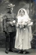 F131 Sergeant and Mrs Burley, 16 December, 1918, Edwarde Studio, Southampton.