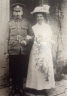 F158 Private 32868 William Smith, Gloucestershire Regiments.and Olive Wright, April 1917. Courtesy of Paul Hughes.