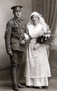F143 Unnamed soldier, King's Liverpool Regiment, and bride.