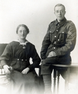 F097 Unnamed corporal, Army Service Corps, and lady