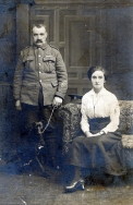 F088 Unnamed soldier and wife, Watford studio