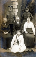 F102 Unnamed soldiers Royal Engineers (right) and Army Service Corps (left) and family.jpg