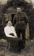 F120 William Hooton, Royal West Surrey Regiment, and wife Daisy. Courtesy of Graham Loughton.