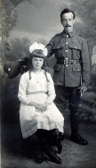 F001 Army Service Corps and daughter, Winchester studio