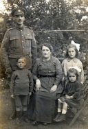 F002 Corporal, Army Ordnance Corps, and family