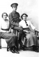 F011 Royal Army Medical Corps and ladies, Hull or Beverley studio