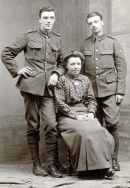 F023 Unnamed soldiers and lady, 28 February 1917