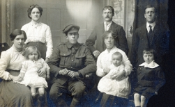 F027 Unnamed Royal Engineer and family