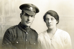 F031 Unnamed soldier, Cheshire Regiment, and lady