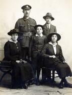 F038 Unnamed soldier and family, Wiltshire Regiment, Saffron Walden studio