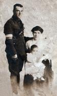 F070 Thomas Flynn, Royal Engineers, Ellen Flynn nee Rush, and daughter