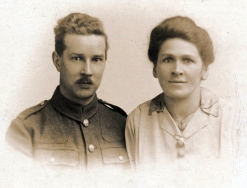 F068 Unnamed solider and lady