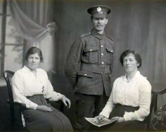 F059 Jock McKenzie, Royal Engineers, and sisters, Agnes and Grace