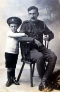F153 Royal Engineer and son, Wickens Studios, Bangor. Courtesy of Paul Hughes.