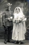 F131 Sergeant and Mrs Burley, 16 December, 1918, Edwarde Studio, Southampton.