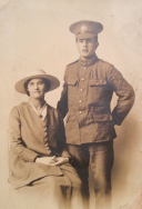 F160 Unknown private of the Gloucestershire Regiment and lady. Courtesy of Paul Hughes.