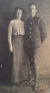 F145 Unnamed soldier and mother. Courtesy of Paul Hughes.
