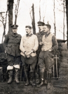 G507 Captain Gull, Captain Moore, Captain Wallis, Lieutenant Colonel Morris, October 1915.