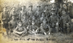 G093 King's (The Liverpool Regiment), August 1915, W H Lees left foreground