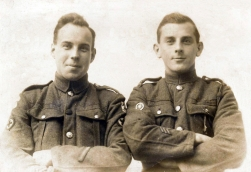 G034 Fred, Royal Army Medical Corps and other with wheelwright trade badge, Barnstaple