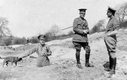 G068 Major Arnott, Captain Wayman, Lt Bava, 14th Btn, Northumberland Fusiliers