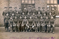 U104 15 Platoon, CD Company, 25th Battalion, King's Liverpool Regiment. Courtesy of AneglJCake.