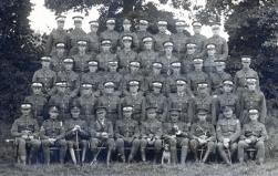 U006 Royal Artillery officers' training, Trowbridge, 1917, Harold Stephens of 16, Fern Grove, Liverpool, top row 2nd left