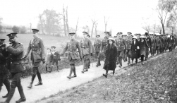 U031 14th Btn Northumberland Fusiliers parade