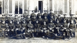 U037 Mixed group. 10th Brigade HQ, France, January 1919. Royal Garrison Artillery, Royal Engineers and others