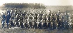 U062 Highland Light Infantry, including Tom, front row far left