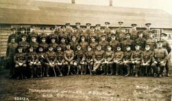 U112 20th Battalion, King's Liverpool Regiment, 4th Pals, commanding officer, adjutant and sergeants. Courtesy of AngelJCake.