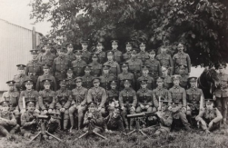 U125 Z Company. 2nd Battalion. Hampshire Regiment, with Harry and Len Moseley, killed in 1918. Courtesy of Paul Hughes.