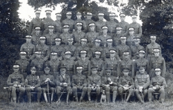 U006 Royal Artillery officers' training, Trowbridge, 1917, Harold Stephens of 16, Fern Grove, Liverpool, top row 2nd left