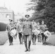 U030 14th Btn Northumberland Fusiliers parading from Halton House