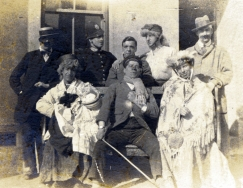 W089 Concert Party group, Red Cross Hospital, Carmarthen, 23 March, 1917.