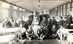 W002 First Eastern General Hospital, Cambridge, Sgt. Ernest Taylor seated right of nurse_W.