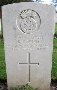Grave of Richard Burd, courtesy of Paul Burd