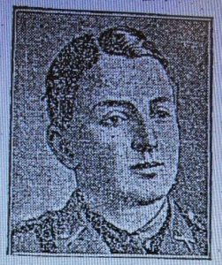 A595 Lieut. Henry M Anderson, 5th Battalion, Northumberland Fusiliers, f Portaferry, County Down. Ireland, died 30th May 1918 Courtesy of Helen Charlesworth